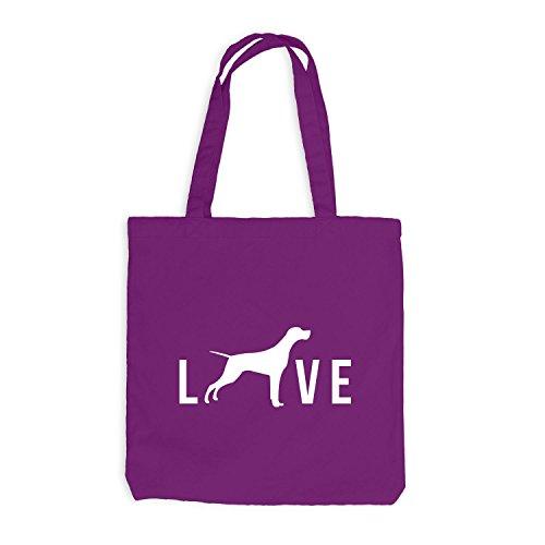 Love Live Dog Magenta Hunde Doggy Jutebeutel pS1dwxES