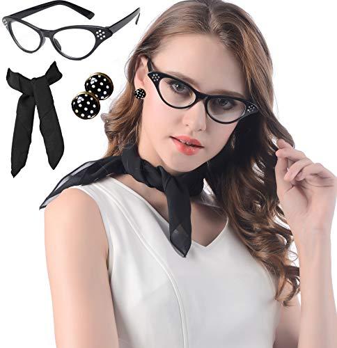 RosaDIY Damen Sonnenbrille Black with Rhinestone