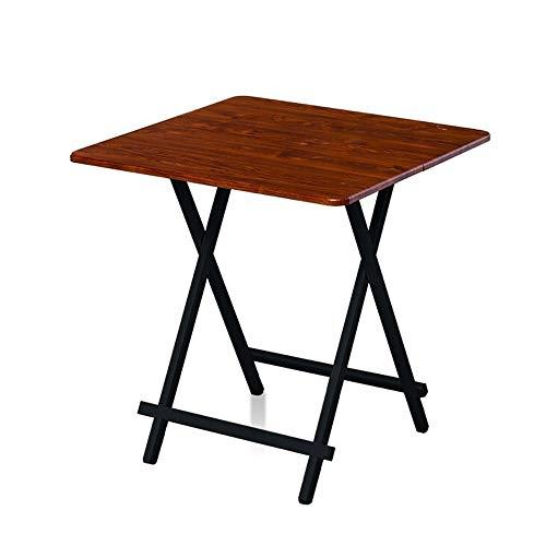 Klapptisch Outdoor Freizeit Camping Tisch Faltbarer Kleiner quadratischer Tisch Einfacher moderner Esstisch Quadratischer Familienschreibtisch Hellbraun/Dunkelbraun (Color : Light Brown) -