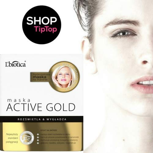 L'Biotica Active Gold Hydrogel Face Mask on Fabric illumination & Smoothens 25g -