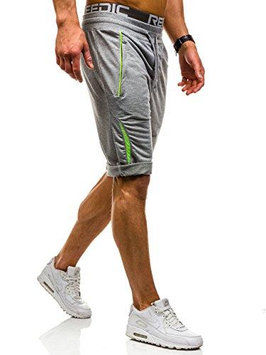 BOLF �?Pantaloncini sportivi �?Jogging �?Sport �?Fitness �?Motivo �?Uomo [7G7] Grigio