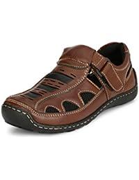 San Frissco Men's Leather Outdoor Sandals