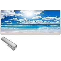 ESG 125x50 cm Spritzschutz Fliesenspiegel DekoGlas Küchenrückwand Glas Sonnenblumen Herdblende aus Sicherheitsglas