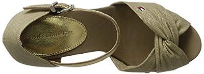 Tommy Hilfiger Women's E1285lena 3d Open Toe Sandals