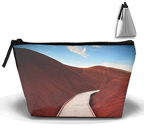 Pouch Mitchell Oregon Hills Mountains Portable Makeup Bag Zipper Trapezoidal Strorege Bag ()