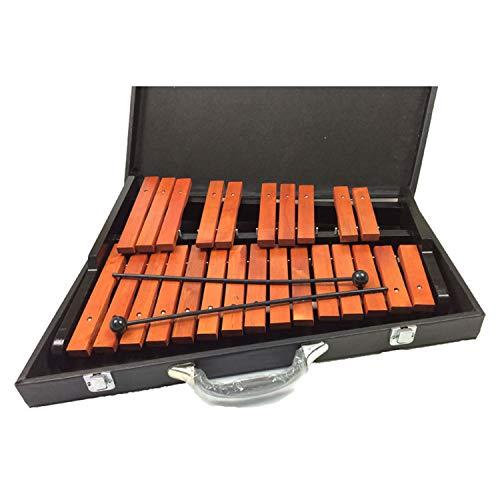 YXXHM- Kinder Holzklopfen Piano Orff Marke Puzzle Frühe Bildung Musikinstrument Spielzeug 25 Ton Mahagoni Klavier Zu Senden Koffer