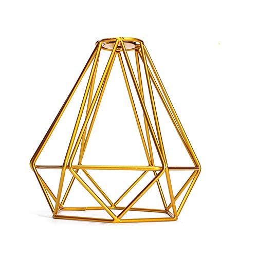 Pantalla de lámpara de estilo retro, estilo industrial, color negro, de metal, para colgar en el techo o en la pared, dorado, 1 pieza