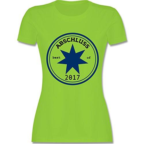 Abi & Abschluss - Abschluss 2017 - tailliertes Premium T-Shirt mit Rundhalsausschnitt für Damen Hellgrün