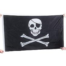 Bandera pirata del cráneo de la bandera de piratas Jolly Roger Colgante con ojal para la decoración