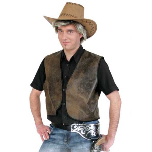 Herren-Weste Cowboy Buck, braun, Gr. XXL