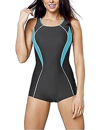 Gwinner Damen Badeanzug- Geeignet Für Freizeit Und Sport - Ideale Passform - Beständig Gegen UV Und Chlor -Made In EU #Janna