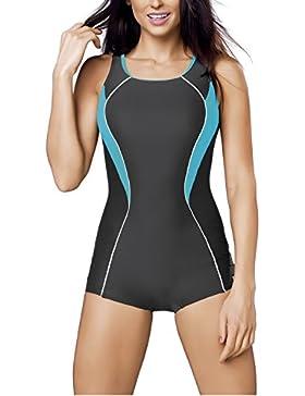 Bañador Gwinner, bañador deportivo, traje de baño, traje de baño para mujer de una sola pieza con pata larga,...