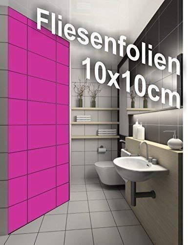 Fliesen Aufkleber Folien einfach selber kleben Größe 10x10cm 24 Stück Sticker Fliesenaufkleber Bad