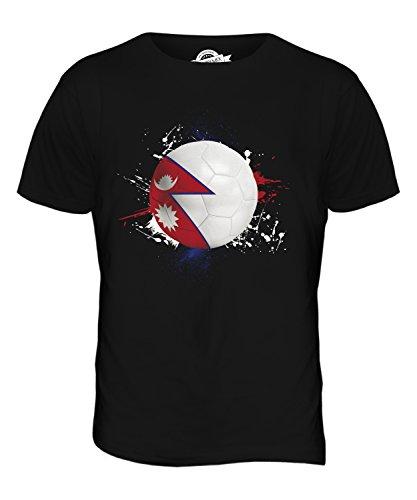 CandyMix Nepal Fußball Herren T Shirt Schwarz