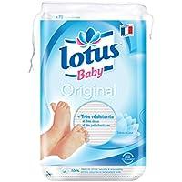 Lotus Baby Original – Coton bébé - lot de 10 paquets de 70 cotons