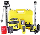 Fukuda FRE-205 Kit - Fully Self Levelling Rotary Laser Level, Laser Detector, Remote