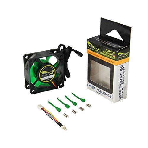 Nanoxia Deep Silence 60 mm - 2000 RPM Carcasa del Ordenador Ventilador - Ventilador de PC (Carcasa del Ordenador, Ventilador, 6 cm, 1200 RPM, 2000 RPM, 6,2 dB)