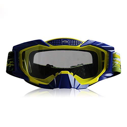 KnSam Sportbrille Retrosportbrille Retrosportbrille Retrosportbrille Retrosportbrille Retro Transparentes Gelbes Blau Schutzbrille