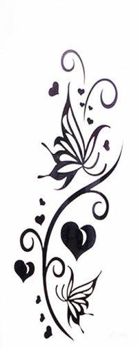 Amour étanche papillon totem autocollant de tatouage temporaire