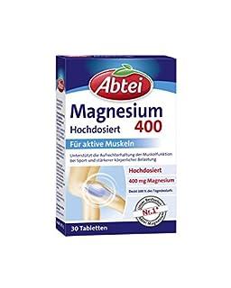 Abtei Magnesium 400mg Tabletten, 30 Stück, 2-er Pack (2 x 39,5g) (B004UKICUQ)   Amazon price tracker / tracking, Amazon price history charts, Amazon price watches, Amazon price drop alerts