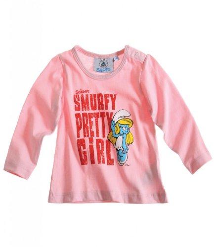 Schlümpfe Langarmshirt Sweatshirt für Babys u. Kleinkinder 3 Motive LAWS67779 Rosa