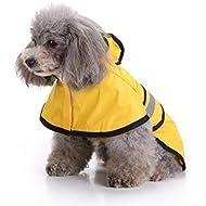 Gaddrt Pet Dog Hooded Raincoat, Waterproof Puppy Dog Outdoor Jacket Coat for Small Medium Large Dog