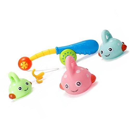 CDKJ Baby Badespielzeug Set Spritzt Badespielzeug Pool Schwimmendes Badespielzeug Machen Sound Spray Wasser für Kinder Kleinkind Baby Jungen Mädchen Angeln Badewanne Spielzeug
