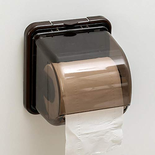 ssue box roll paper tube hand tray toilet toilet paper toilet paper tray waterproof toilet paper rack@【brown】 ()