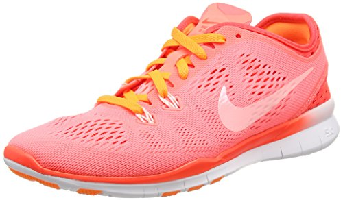 Nike Free 5.0 Tr Fit 5 Breathe, Chaussures Multisport Indoor femme Rouge (Lv glw/white-brght crmsn-brght 600)