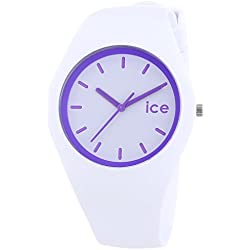 ICE-Watch Unisex Watch Analogue Quartz ICE Crazy Crazy purple-Unisex White Silicon Strap White Dial-ICE.CY.PE.U.S.13