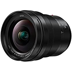 Panasonic LEICA Objectif Zoom Grand Angle pour capteur micro 4/3 8-18mm F2.8-4.0 H-E08018E (Ultra grand angle 8mm, Grande ouverture F2.8, Tropicalisé, equiv. 35mm : 16-36mm) Noir - Version Française