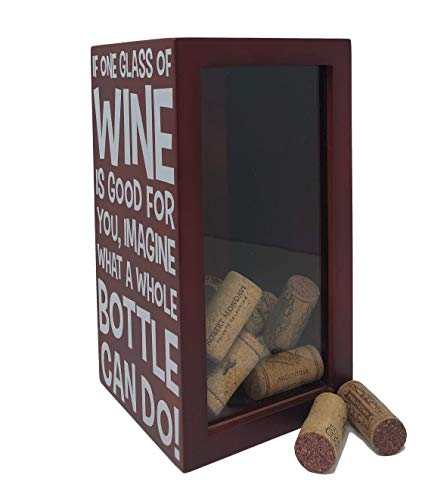 Napa Gift Store Funny Wine Cork Holder Shadow Box for Wine Decor, Home &  Kitchen Display - Holds Over 40 Corks - Cherry Red with Double Sided  Artwork