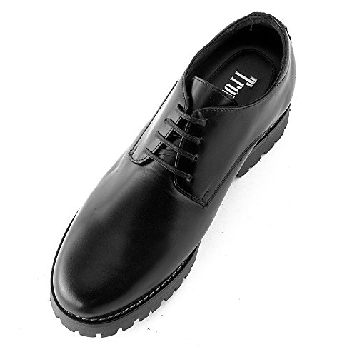 Masaltos - Chaussures rehaussantes pour homme. Jusqu'à 7 cm plus grand! Modèle Tormo Noir