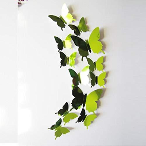 12 Stück 3D Schmetterlinge Wandsticker Kühlschrankaufkleber Wandtattoo Wandaufkleber Butterfly Wandsticker 3D Wanddeko Aufkleber Wandbilder Haus Dekoration für Wohnzimmer Schlafzimmer Kinderzimmer