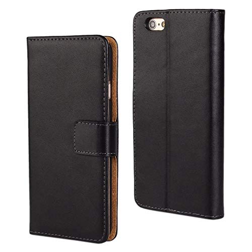 Pro-Mobile Handy Hülle für Apple iPhone 5/5S/SE Schwarz Case Schutz Tasche Cover Basic Flip Etui Wallet iPhone (I Phone 5s Etui Flip Wallet)
