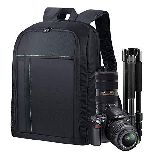 Estarer Kamerarucksack Fotorucksack SLR/DSLR/Spiegelreflex Wasserabweisend 15,6\'\' Kamera Rucksack mit Laptopfach Regenhülle Stativhalterung