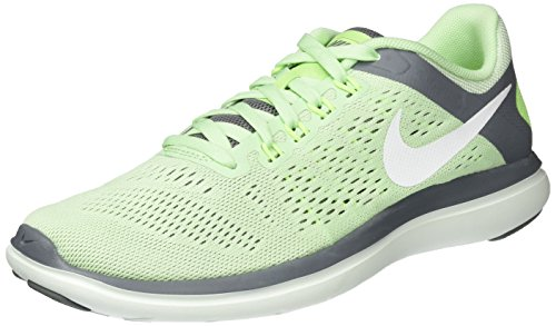 Nike Damen Wmns Flex 2016 RN Laufschuhe, Mehrfarbig (Verde/Blanco/Fresh Mint/White/Cool Grey/Barely Green), 39 EU (Nike-sortiment)