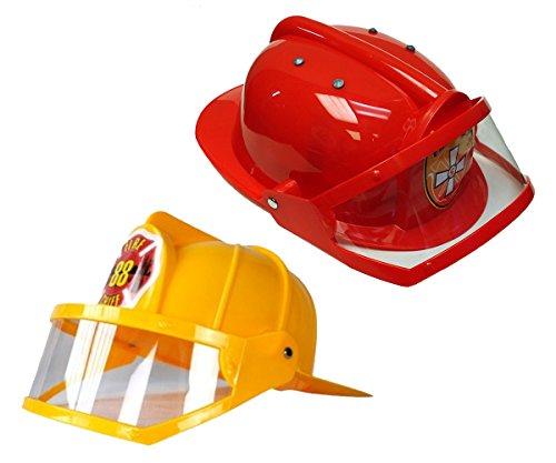 fire chief childrens deluxe fireman helmet red yellow dress up