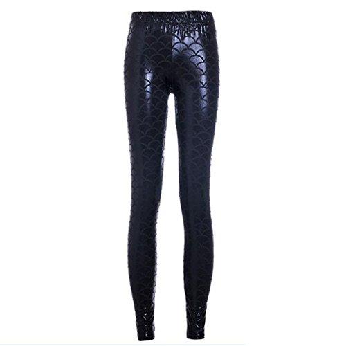 dragon-noir-svelte-paillet-chelle-impression-legging-pantalon-fille-l