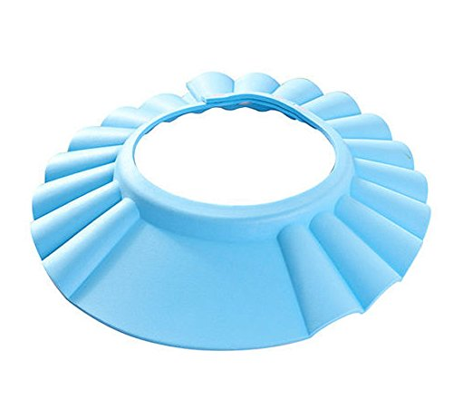 Dealglad Adjustable Baby Kids Children Shampoo Bathing Shower Protector Cap Hat Wash Hair Shield (Blue)