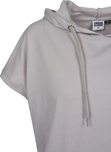 Urban Classics Damen T-Shirt Ladies Sleeveless Jersey Hoody Grau (Grey 00111)