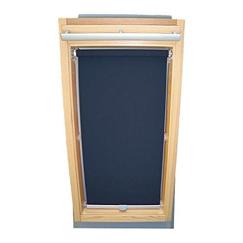 Easy-Shadow Dachfenster Sichtschutzrollo Basis Rollo für Typ Roto WDF Designo R6 / R8 / R84 / R85 / R86 / R88 / R89 / R6_K/H R8_K/H R8_K/H SR Größe 7/14 - in der Farbe dunkelblau
