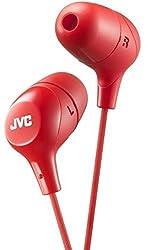 JVC HAFX38R Marshmallow(R) Inner-Ear Headphones (Red)