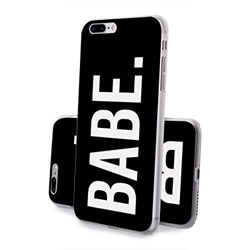 Motif Serie 2 Coque Pour Iphone - Bleu Marine Bois, Iphone 6 Plus / 6S plus Babe Noir
