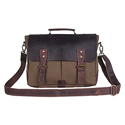 Rustic Town Canvas Messenger Crossbody Shoulder Bag Satchel Work Bag for Men and Women Casual Leisure Fashion Fits 15.4 inches Macbook Laptop Notebook and Ipad .