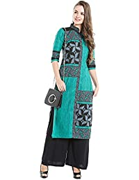 Ishin Cotton Blue Printed Party Wear Casual Daily Wear Festive Wear New Collection Latest Design Trendy Women's...