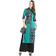 Ishin Cotton Blue Printed Party Wear Casual Daily Wear Festive wear new Collection Latest Design Trendy Women's Kurta & Palazzos Set