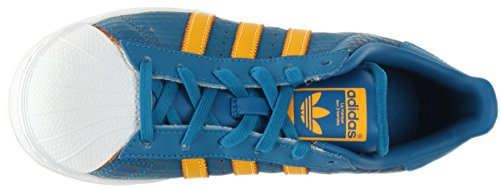Adidas Youths Superstar F37789 Leather Trainers Blue