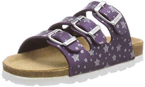 Richter Kinderschuhe Mädchen Bio Pantoletten, Violett (Purple/Pr.Sterne 7410), 35 EU