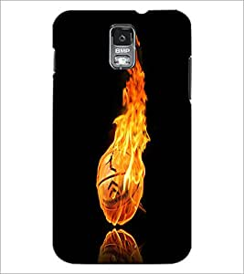 PrintDhaba Flamming Boll D-2423 Back Case Cover for SAMSUNG GALAXY S5 (Multi-Coloured)